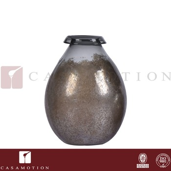 Wholesale Casamotion Hand Blown Tall Black Brown Vintage Glass Vases