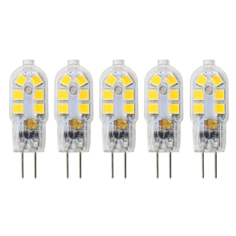 G4 LED Bulbs - Attaljus G4 Bi Pin Base Light Bulb, AC DC 12V G4 Non Dimmable Lightbulb, 2W 20W Halogen Replacement, 3000K Warm White LED Bulbs for Landscape RV, 5 Packs