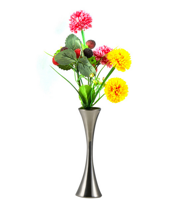 Cheap Home Decorative Silver Metal Table Flower Vase