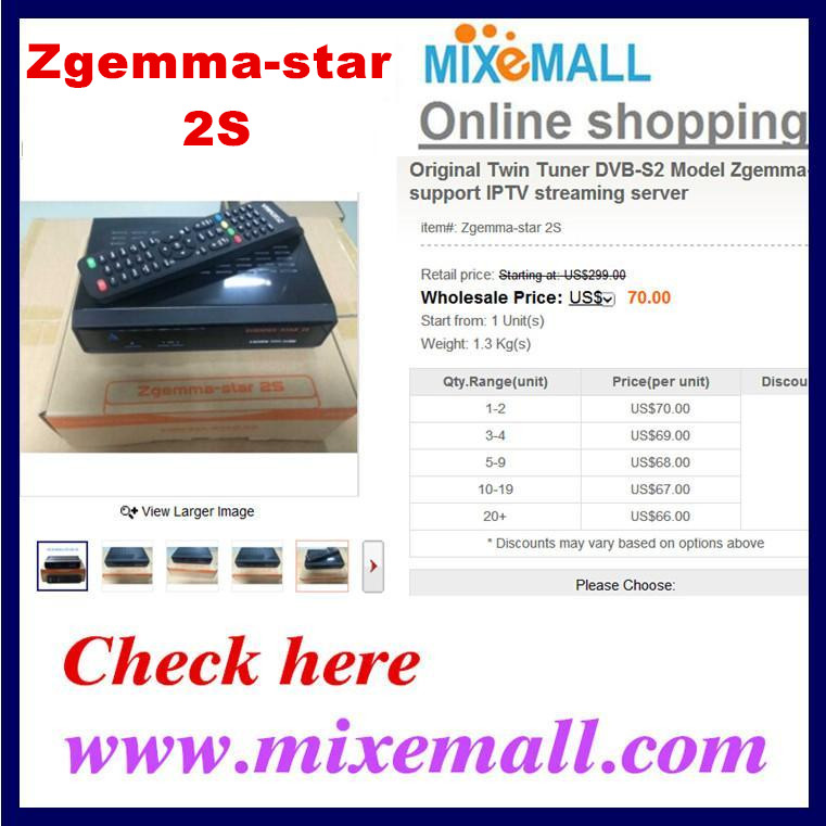 New Hot Original Enigma2 <strong>HD</strong> receiver Linux os Zgemma Star 2S with two DVB-S2 <strong>Tuner</strong> best <strong>satellite</strong> <strong>tv</strong> receiver