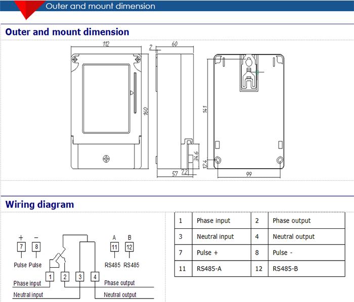 Hot Sales Standard Size Multi-step Ic Card Prepaid Electric Meter ...