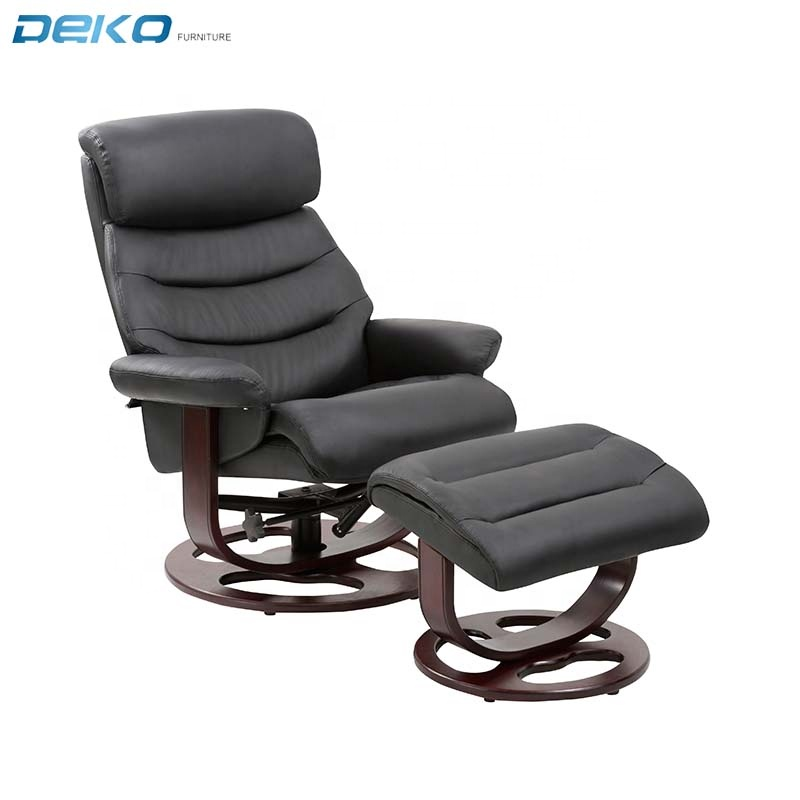 Relaxing Chair PU Leather Recliner Chair With ottoman footstool