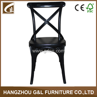 Most Popular French Style Restaurant Cross Back Wooden Chair in Dining Room