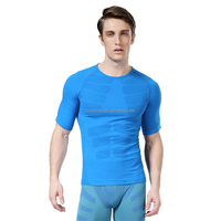 Men's Fitness Body Shaper Compression Short Sleeve T-shirt Elastic Quick Dry Crossfit Bodybuilding Breathable Tops