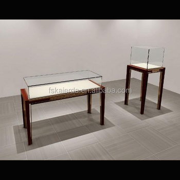 Jewelry Gl Top Display Case Table