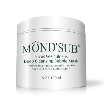 Mond'sub Private Label Cleansing 100ml Carbonated Hyrating Facial Cleanser Oxygen Cleans Mask