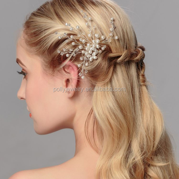Top Fashion Wedding Hair Accessories Wholesale Pearl Crystal Floral Wedding Hair Pins