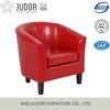 Judor PU leather red and black wood tub chair