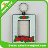 3d pvc rubber photo frame keychain
