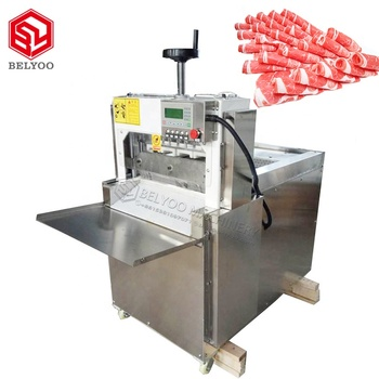 Automatic goat meat cutting machine  New style frozen meat slicer for Beed meat