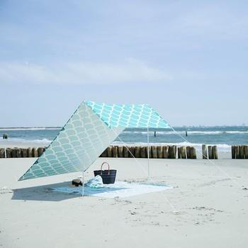 af8f8329fbba Anti- uv 100% in tela di cotone spiaggia ombrellone tenda da sole tende