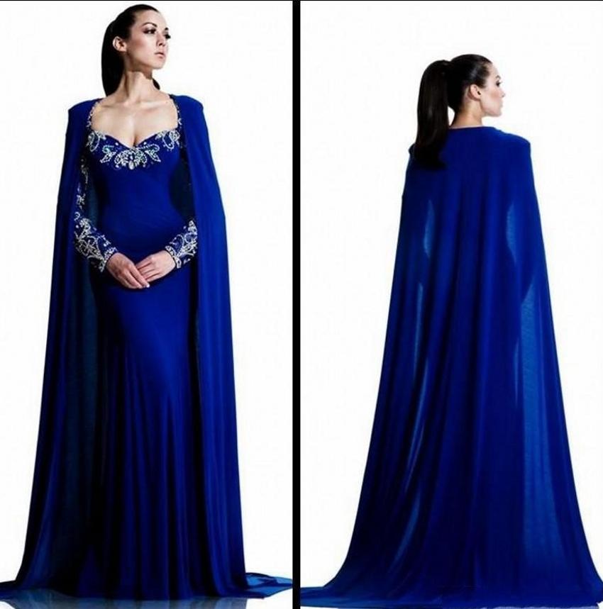 Aliexpress.com : Buy Royal Blue Dubai Long Sleeve Muslim ...