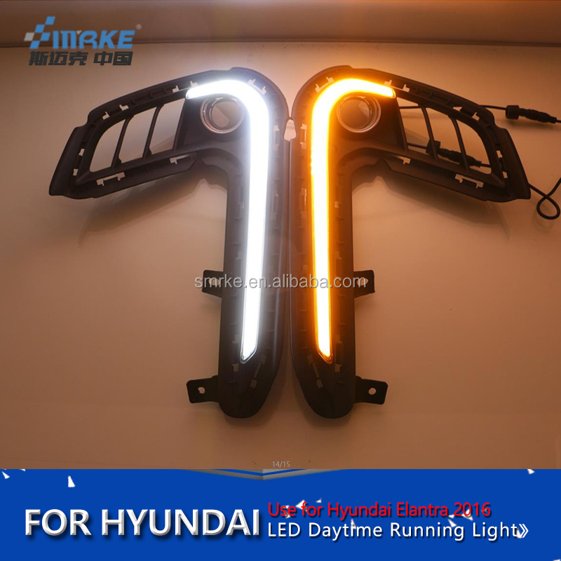 new elantra car accessories Hyundai elantra 2017 LED DRL daytime running light fog lamp