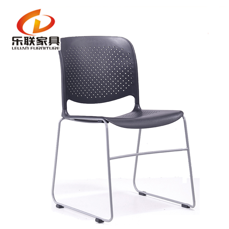 No arm office meeting chair mesh fabric stackable chrome conference chair