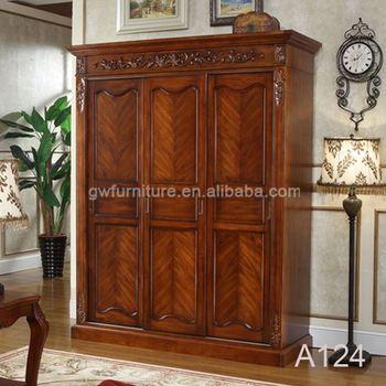 Antique Solid Wood Armoire Wardrobe