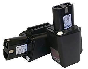 2x NEW 9.6Volt 2500mah replacement Bosch batteries for 3050VSRK, 3051VSRK 920VSR