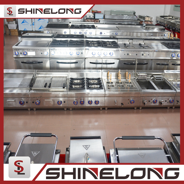 Industrial 600 Series Cooking Equipment Range 4 Burner Gas Cooker With Oven