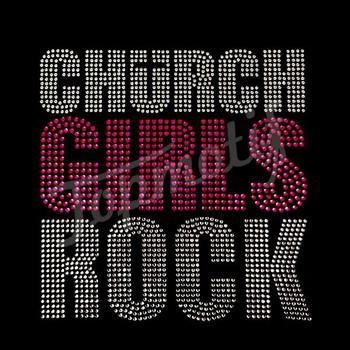 74f02e357 Church Girls Rock Wholesale Heat Transfers Custom Rhinestone Letters For  Dress