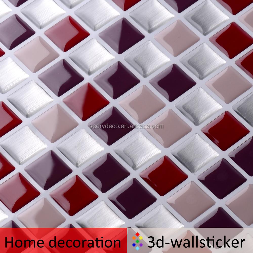 Diferentes tipos de 10x10 pared de vinilo azulejo home - Tipos de azulejos para cocina ...
