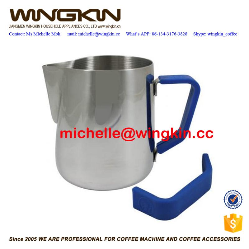 espresso coffee machine use hot sell stainless steel milk frothing pot