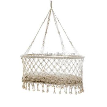 Indoor Furniture Leisure Rope Hanging Baby Cradle Hammock Chair Macrame  Baby Swing Chair  Hammock Chair
