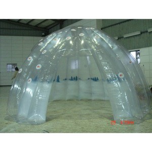 transparent inflatable dome tent air tight sealed inflatable events tent for sale