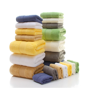 High Quality Cotton Dobby Plain Dyed Custom Made Bathroom Hand Towels