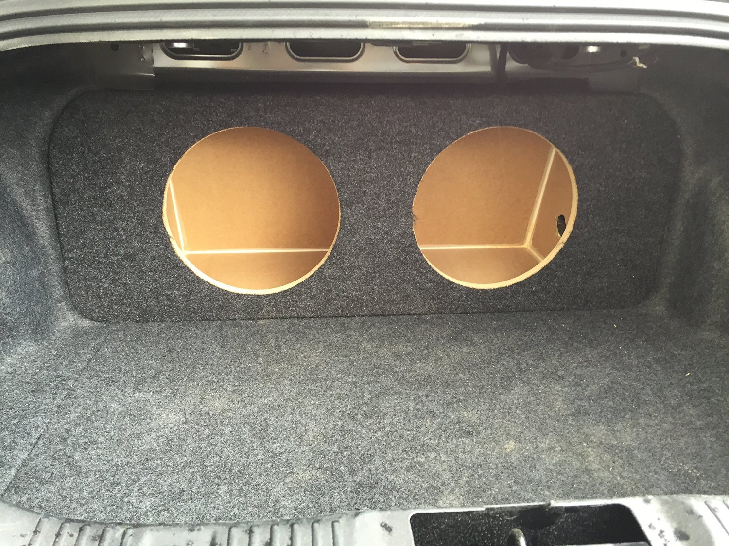 "Zenclosures 2015-2016 Mustang 2-10"" Subwoofer Box Rear Fire - Charcoal, Version 1"