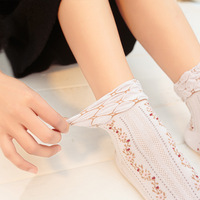 100% Pure Cotton rural floral pattern pregnant women or diabetic socks ankle socks