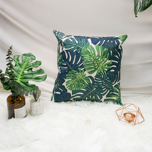 Boreal europe style printed leaves indian cushion for sofa relaxation
