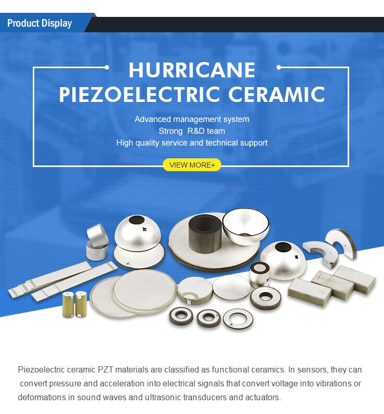 Cerámica piezoeléctrica Tipo de actuador lineal piezo elemento de anillo