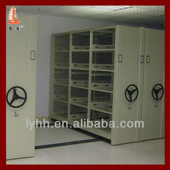 Hospital Furniture Medical Records Storage Mechanical Metal Mobile Manual Compactor For Medical Card & Hospital Furniture Medical Records Storage Mechanical Metal Mobile ...