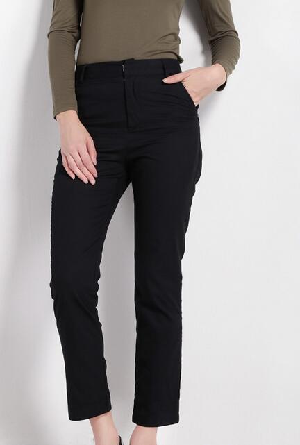 Ey0363p Nuevo 2016 Ropa De Mujeres De Verano De Algodón De Moda Casual  Vestidos Pantalones Negro - Buy Pantalones Negros De Alta Calidad 577e9bfad7ad