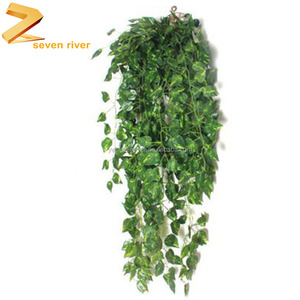 Artificial wall hanging green leaves artificial ivy vines