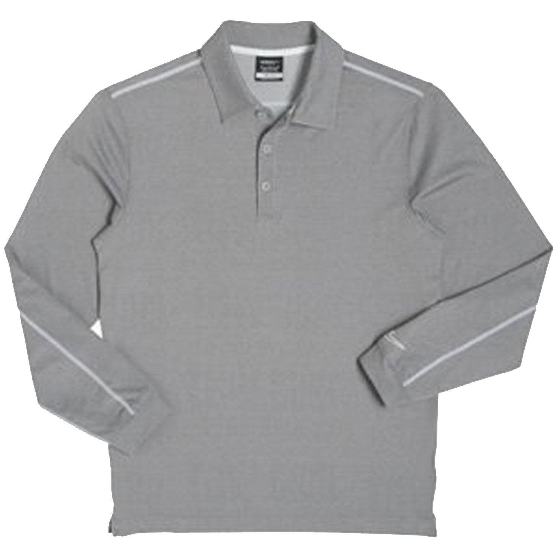 Buy Nike Mens Dri Fit Long Sleeve Heathered Bleached Golf Polo Shirt