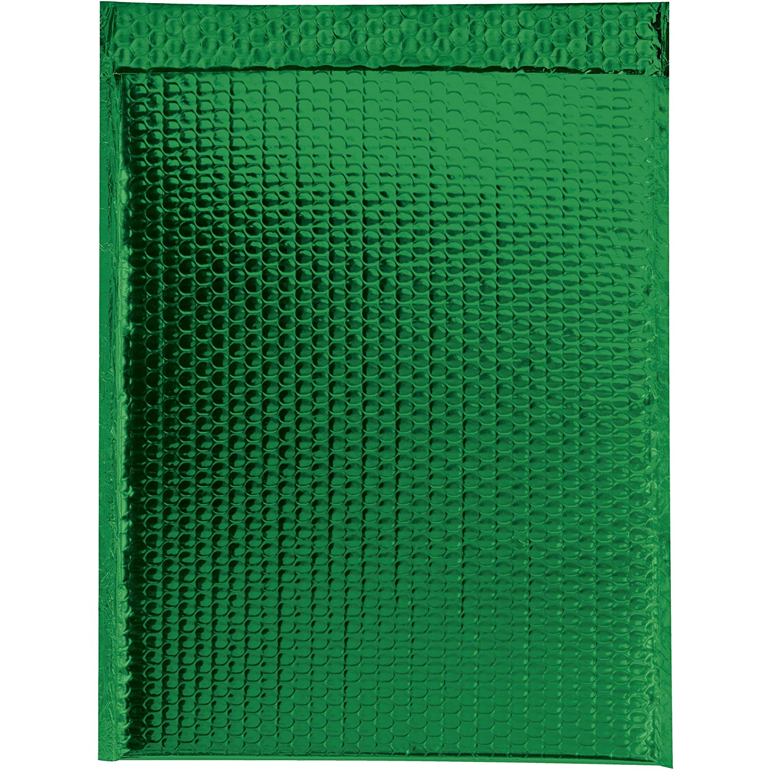 "Boxes Fast BFGBM1317G Glamour Bubble Mailers, 13"" x 17 1/2"", Green (Pack of 100)"