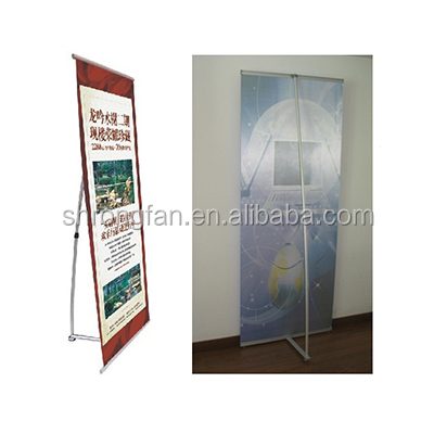 X stand banner L shape custom standing banner size