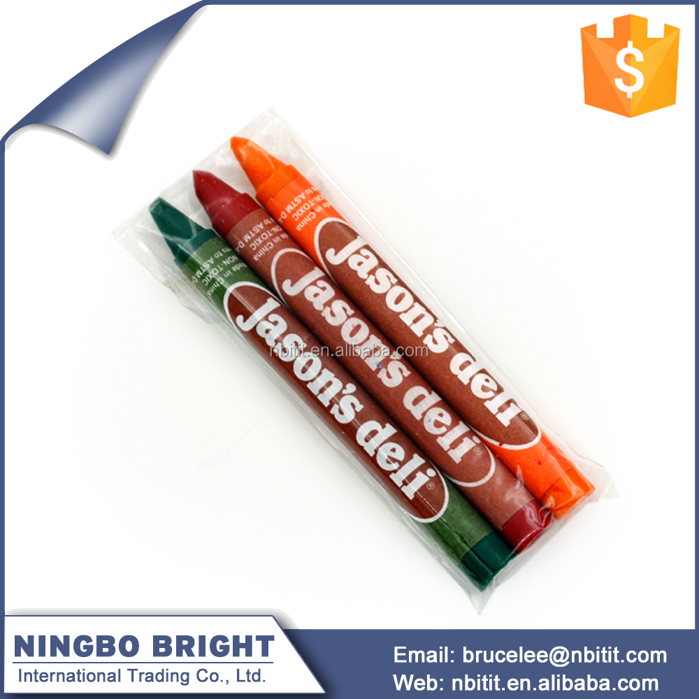 Factory Wholesale Customized Plastic Crayons Pen For