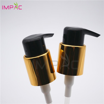 Black plastic round 24 410 lotion pump for any cosmetic lotion