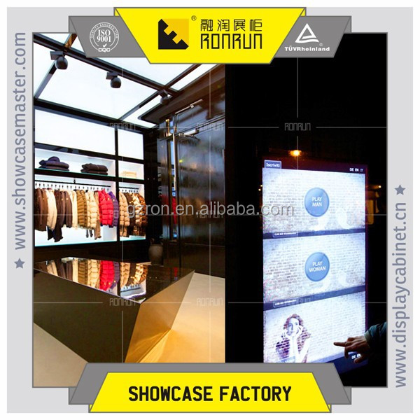 International brand clothes shop decoration ,metal display rack,use display stands for sales