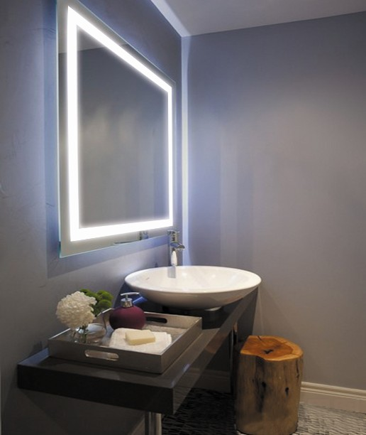 High Cl Flat Bathroom Led Light Mirror Touch Sensor Switch With Demister Pad