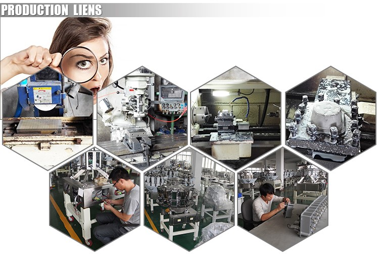 Model V420 CE vertical form fill seal packing machine with multihead weigher for coffee beans in stand up pouch
