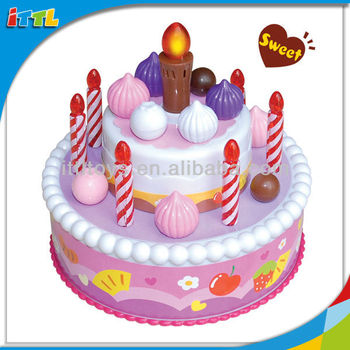 Intelligent Kids Lovely Birthday Cake Toy DIY Musical