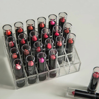 Wholesale Acrylic Lipstick Storage Containers Empty Lipstick Display Stand