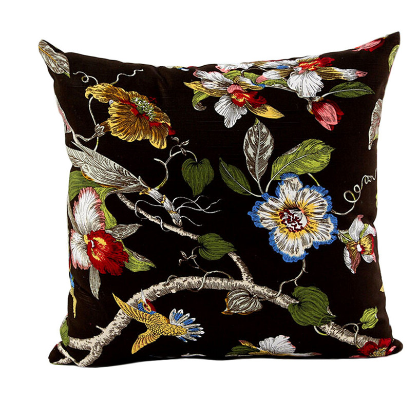 floral home sofa bed decor plaids throw pillow case square cushion cover decorative throw. Black Bedroom Furniture Sets. Home Design Ideas
