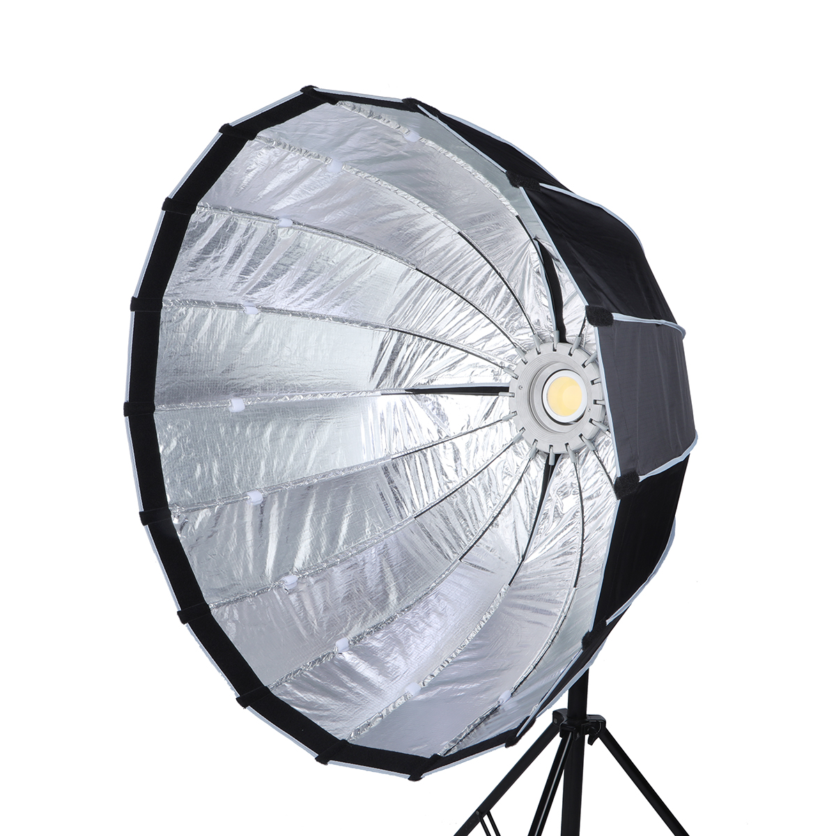 NiceFoto LED-90cm  softbox  Quick set-up deep softbox with grid parabolic softbox for the professional LED video light with Bow