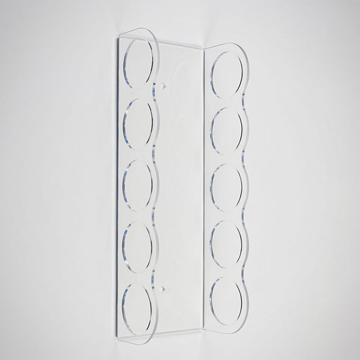 5 Places Clear Acrylic Magazine Paper Display Wall Rack