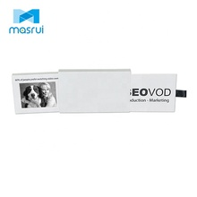 Stretched open 2.4 inch mini videopak LCD video business card