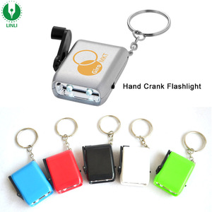 2pcs Led Dynamo Keychain Flashlight, Hand Crank Flashlight, Dynamo Wind Up Keychain