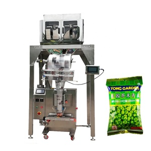 VFFS Granule pouch packing machine with 4 head linear weigher peanut sachet packing machine